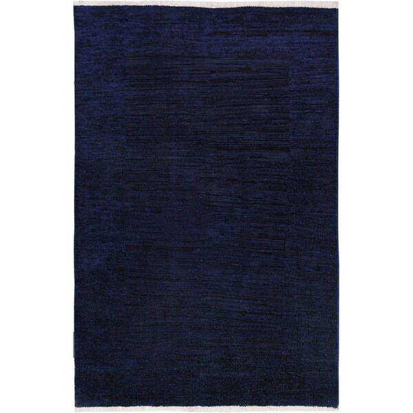 Over Dyed Color Reform Marco Blue/Purple Wool Rug (3\'1 x 4\'7) - 3 ft ...