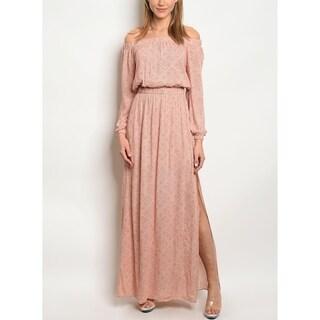 JED Women's Elastic Waist Maxi Dress with Side Slit