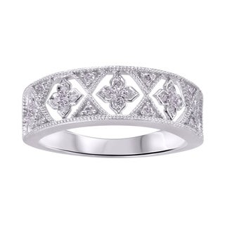 Sterling Silver 0.016cttw Diamond Ring