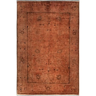 Over Dyed Color Reform Johnatha Brown/Brown Wool Rug (4'1 x 5'9) - 4 ft. 1 in. x 5 ft. 9 in.