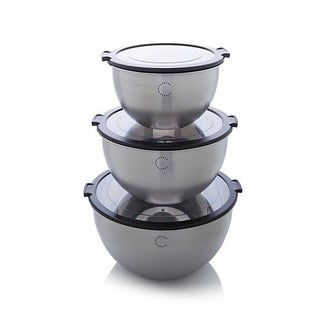 Curtis Stone Mix, Store and Look 6-piece Bowl Set with Clear Lids