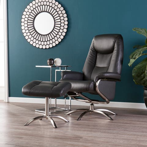 Harper Blvd Blake Charcoal Reclining Chair and Ottoman