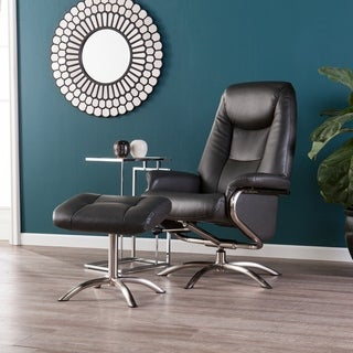 Harper Blvd Blake Charcoal Reclining Chair and Ottoman