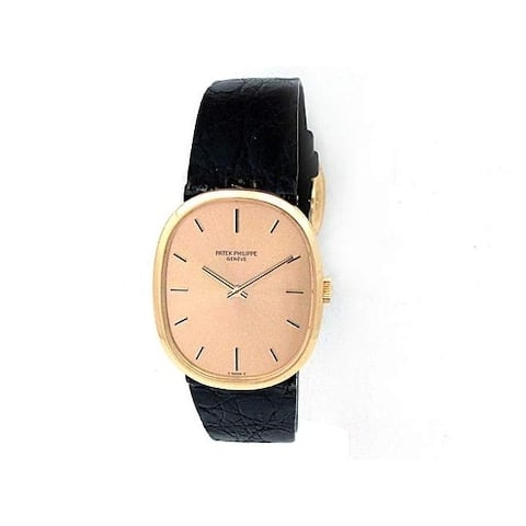 Pre-owned 27mm Patek Philippe 18k Yellow Gold Golden Eclipse Watch