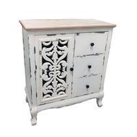 "31.1""H Wood Cabinet"