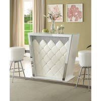 Acme Carlyn Bar Table in Ivory Leatherette