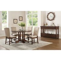 Acme Tanner Round Dining Table in Cherry - Cherry Brown
