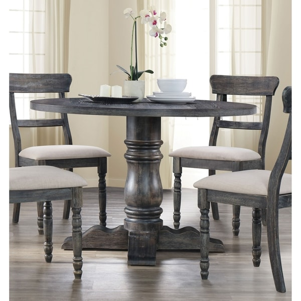 Acme Wallace Dining Table In Weathered Gray Grey Free Shipping Today 20850614