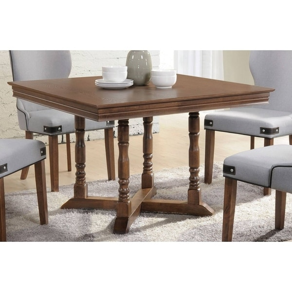 Acme Wilfried Square Dining Table In Walnut On Free Shipping Today 20850630