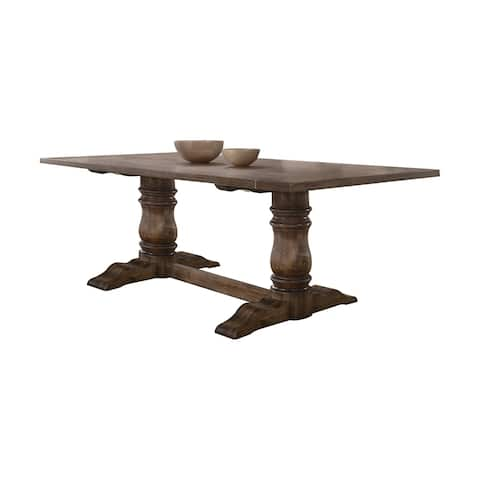 Acme Leventis Dining Table in Weathered Oak - Weathered Oak