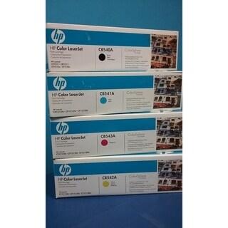 HP 125A Original BK/C/Y/M Toner Cartridges,CB540A,CB541A,CB542A,CB543A(4PK),White Box