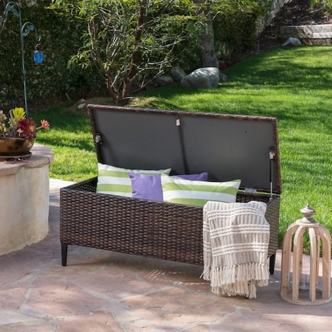 Rupert Outdoor Wicker Storage Unit by Christopher Knight Home