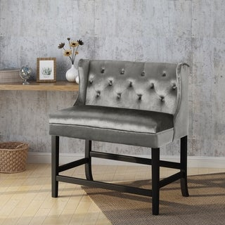 Shop Kenan 29 Inch Tufted Fabric Barstool Dining Bench By