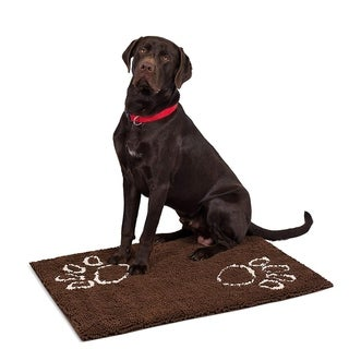 "Internet's Best Chenille Dog Doormat - 35 x 25"" - Absorbent Surface - Non-Skid Bottom - Protects Floors"