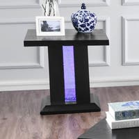 Furniture of America Weston Contemporary LED End Table