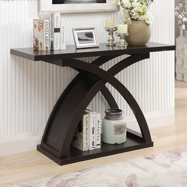 Furniture Of America Moa Contemporary Espresso Wood Sofa Table