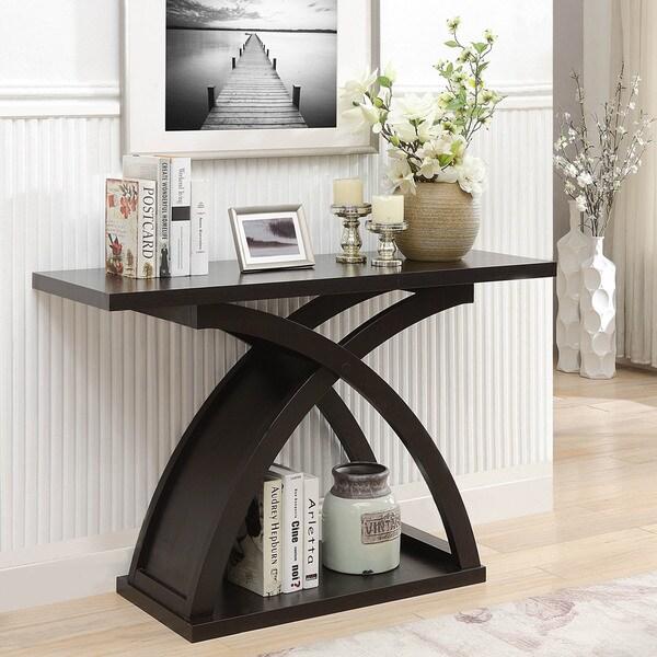 Furniture Of America Contemporary Espresso Sofa Console Table