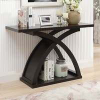 Furniture of America Contemporary Espresso Sofa Console Table