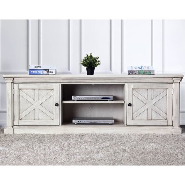 America Lyle Rustic White Solid Wood