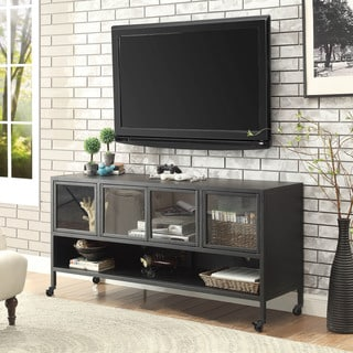 Beckham Industrial Sand Black TV Stand by FOA