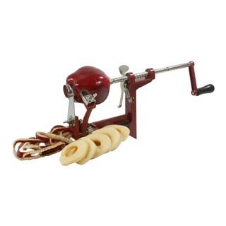 Offex Hand Crank Apple Peeler - Red