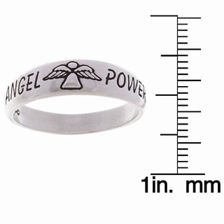 Carolina Glamour Collection Sterling Silver Angel Power Ring