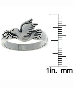 Jewelry Trends Sterling Silver Dove Ring