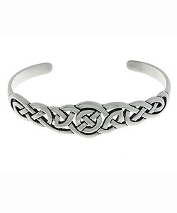 Carolina Glamour Collection Sterling Silver Celtic Bangle