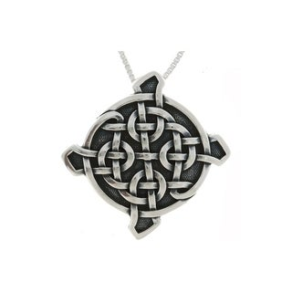 Sterling Silver Ulbster Celtic Shield Necklace