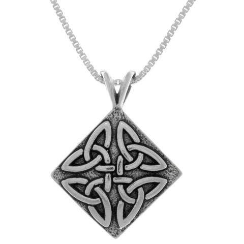 Sterling Silver Triangle Knot Pendant