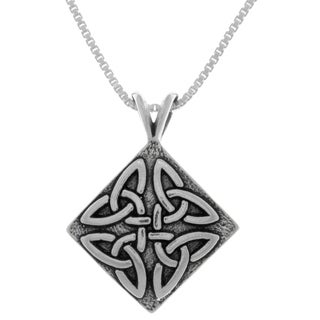 Carolina Glamour Collection Sterling Silver Triangle Knot Pendant
