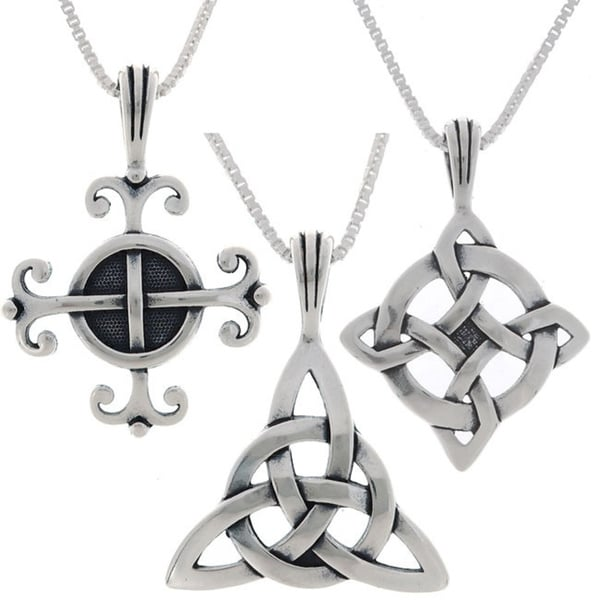 Carolina Glamour Collection Choice of Sterling Silver Celtic Luck Necklaces