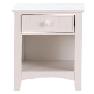Link to Wooden Night Stand with Bottom Open Shelf, White Similar Items in Bedroom Furniture