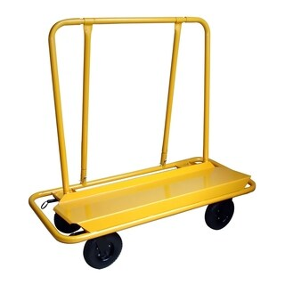 Offex 3000 Lbs Capacity Drywall Cart - Yellow