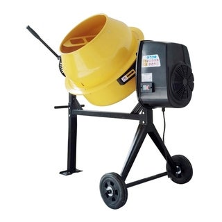 Offex 4 Cubic Foot Electric Cement Mixer - Yellow