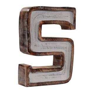 Kearsey Grey Fill Letter Block Decor