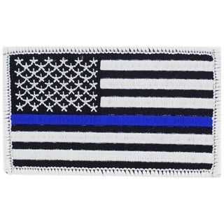 Police Blue Line Honor Flag Patch