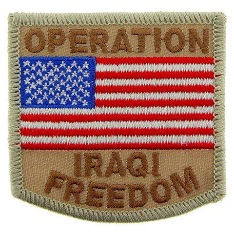 Operation Iraqi Freedom USA Flag Military Patriotic Patch 3 Inches