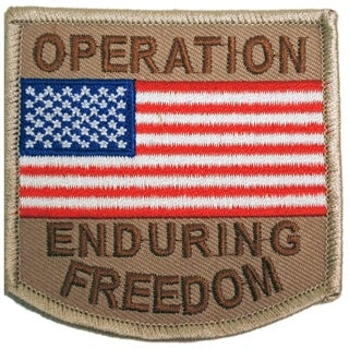 Operation Enduring Freedom USA Flag Military Patriotic Patch 3 Inches