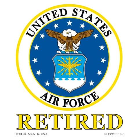 US Air Force Emblem Retired Car Decal
