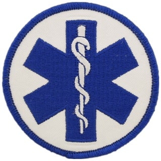 EMS Logo Staff of Asclepius Patch