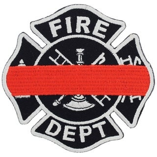 Fire Department Logo Red Line Honor Badge Patch
