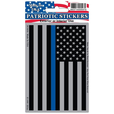 Police Blue Line USA Flag Subdued Patriotic Decal