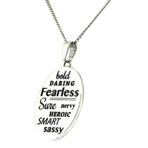 Me Too Stainless Steel Inspirational Pendant