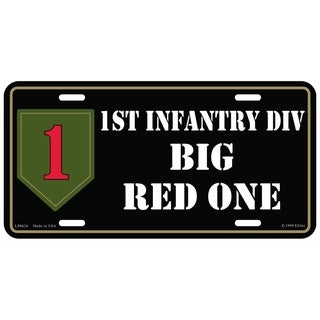 US Army 1st Infantry Division Big Red One Military License Plate