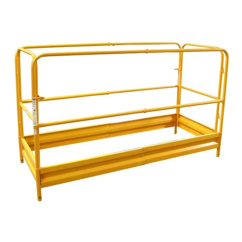 Offex Scaffolding Guard Rail System - Yellow