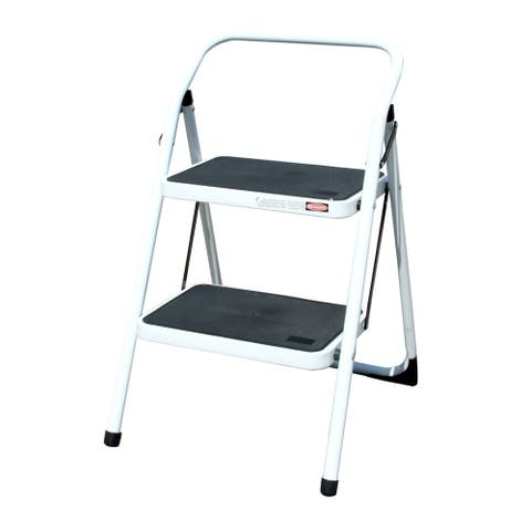 Offex Two Step Utility Stool - White