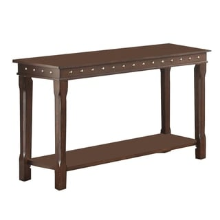 Traditional Style Wooden Console Table, Brown