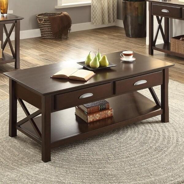 Modernly Fashioned Poplar Wood U0026amp; Birch Veneer Coffee Table, ...