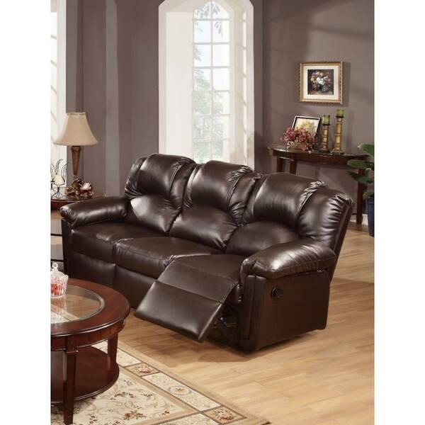 Metal Bonded Leather Recliner Sofa